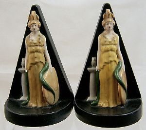 Carlton Ware Very Scarce Pair of Minerva Bookends - 1930s